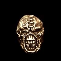 Brass Ring Zombie Brass Skull ring HTJ12