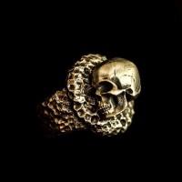 Brass Ring Dead sleep Skull Ring Brass Skull ring HTJ17