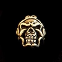 Brass Ring Ferocious Skull Ring HTJ22