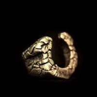 Brass Ring Skull Jewelry Brass Skull ring HTJ56