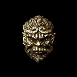 Brass Ring Skull Jewelry Brass Skull  Monkey king ring HTJ60