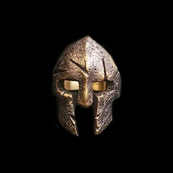 New Special Spartan Helmet brass Ring HTJ64