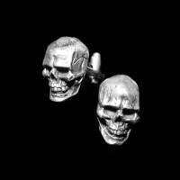Skull Cufflinks 925 Sterling Silver Cufflinks YXK01