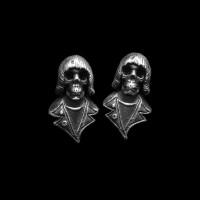 Beatles Punk skull Earbob 925 Sterling Silver skull Beatles skull earring FCS17