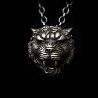 Silver Tiger Pendant Tiger necklace Pendant SSP35