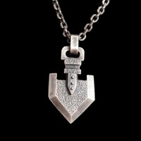 Arrow solid 925 silver necklace Pendant SSP64