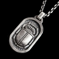 Egyptian Scarab 925 silver necklace Pendant SSP65