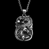 Vigorous spirit of the aged pendant 925 silver Loong Horse dragon pendants SSP108