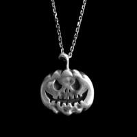 Halloween Pumpkin Skull Pendant 925 silver Pumpkin lantern pendants SSP113