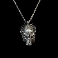 Predator mask Silver Skull necklace Pendant SSP29