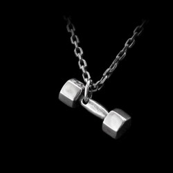 Gym dumbbell pendant 925 silver dumbbell pendants SSP100