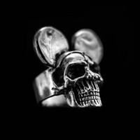 Mickey Skull Ring Silver Skull ring SSJ16
