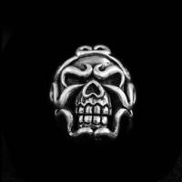 Ferocious Skull Ring Silver Skull ring SSJ22