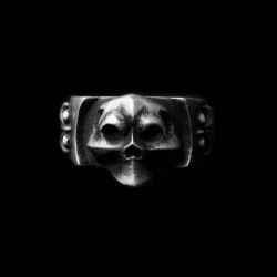 Clown Skull Ring Silver Skull ring SSJ23