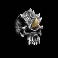 Multi angle skull ring 925 Silver Skull ring SSJ62