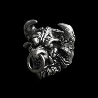 Mens Skull rings Silver Skull ring SSJ68