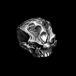 Joker skull ring 925 Silver No jaw skull rings SSJ86