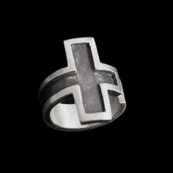 Cross Open 925 Sterling Silver ring SSJ106