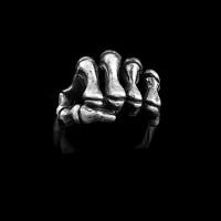 Skull hand ring 925 Sterling Silver ring SSJ108