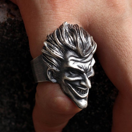 Batman Clown ring 925 silver rings SSJ143