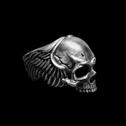 Soul skull Ring 925 silver Wings No jaw skull rings SSJ161