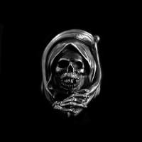 Grim Reaper ring 925 silver Death skull rings SSJ166