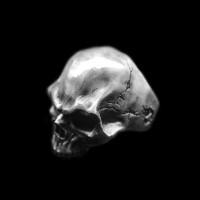 Dark evil skull ring 925 Sterling silver Dark No jaw skull rings SSJ173