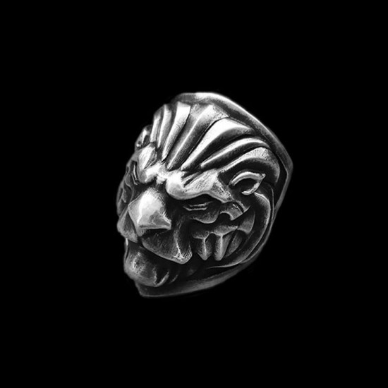 Lion shield ring 925 Sterling silver original Lion rings SSJ189