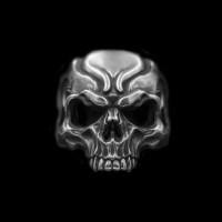 Haley skull ring 925 Sterling silver No jaw skull rings SSJ192