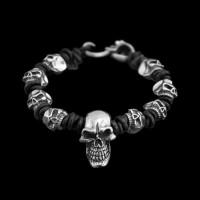 Skull Bracelet Silver Skull Bracelets SSB02