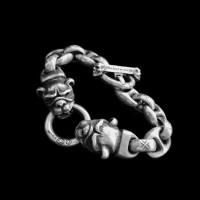 Skull Jewelry Silver Skull Bracelets SSB27
