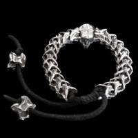 Silver skull silver Snake snake Bracelet SSB38