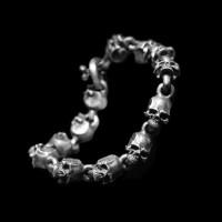 Lifelike skull Bracelet 925 silver skull Bracelets SSB57
